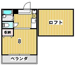 ジョヴィアルII[2階]の間取り
