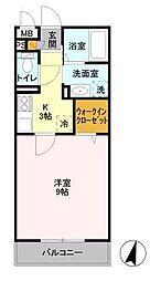パークヒル櫻山I[3階]の間取り