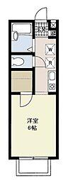 埼玉県さいたま市南区白幡4丁目の賃貸アパートの間取り