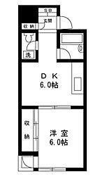 モンシャトー北新宿[101号室]の間取り