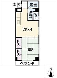 シャルム恵 A〜Dタイプ[3階]の間取り