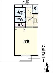 窪田コーポ A棟[1階]の間取り