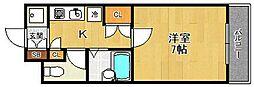 カンスイ参番館[3階]の間取り