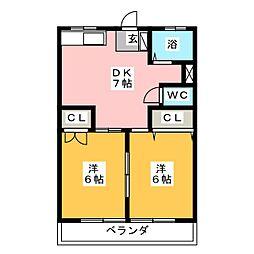第2富士コーポ[1階]の間取り