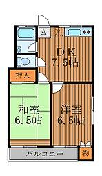 第二都マンション[1階]の間取り