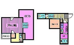 CB宮原ルアナ[1階]の間取り