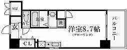 レジュールアッシュ西宮[3階]の間取り