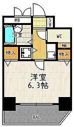 プレサンス京都駅前[501号室]の間取り