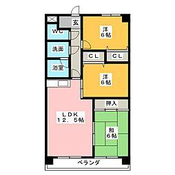 サンモールI[6階]の間取り