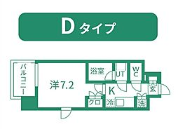仙台市営南北線 北四番丁駅 徒歩11分の賃貸マンション 2階1Kの間取り