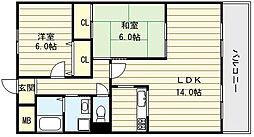 メゾン都[8階]の間取り