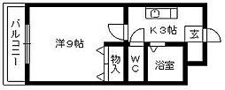 グランドメゾン北斗[201号室]の間取り