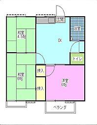 レピュート斉藤A・B[-号室]の間取り