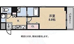 南海高野線 白鷺駅 徒歩1分の賃貸マンション 5階1Kの間取り