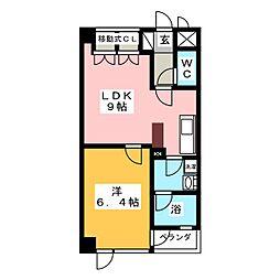 シティ連坊II[2階]の間取り