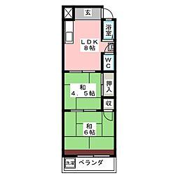 コーポ千成[2階]の間取り