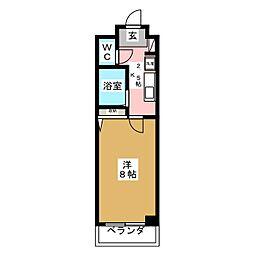 愛宕橋ステーションハイツ[4階]の間取り