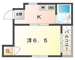ドミール風物語[3階]の間取り