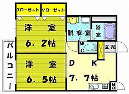 シーサイドヒルズ3[2階]の間取り