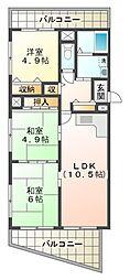 マノワールINO[3階]の間取り