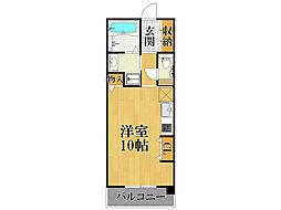 甲子園口マンション雅園荘[3階]の間取り