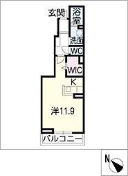 リバーサイドIV[1階]の間取り