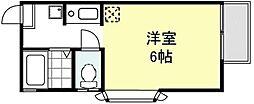 メゾン・ユールーズ[201号室]の間取り