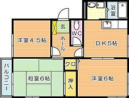 タウニィ長崎[2階]の間取り