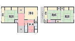 [一戸建] 兵庫県姫路市神子岡前2丁目 の賃貸【/】の間取り