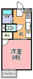 エスポワールハウス[108号室]の間取り