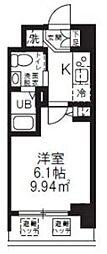 JR横浜線 新横浜駅 徒歩8分の賃貸マンション 8階1Kの間取り