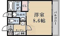 京都府京都市下京区平野町の賃貸マンションの間取り