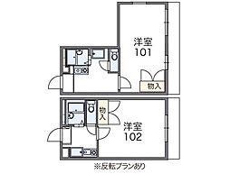 吹上アパート[104号室]の間取り