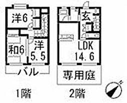[テラスハウス] 広島県広島市安佐南区川内6丁目 の賃貸【/】の間取り