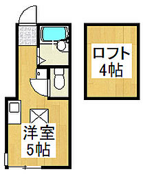 モンステラ戸塚[2階]の間取り