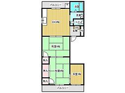 兵庫県神戸市垂水区南多聞台2丁目の賃貸マンションの間取り