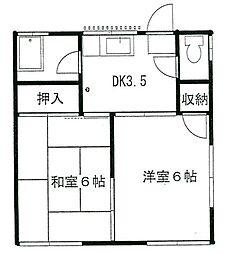 神奈川県座間市入谷3丁目の賃貸アパートの間取り