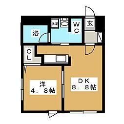 アクアガーデン麻生[3階]の間取り
