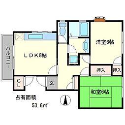 メゾンボナール[2階]の間取り