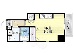カサプラティーノ名古屋ノルテ 9階ワンルームの間取り