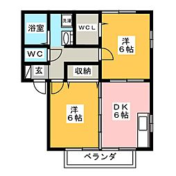 ウィルモア B[2階]の間取り