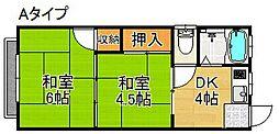 太平住宅マンション[3階]の間取り