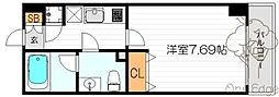 ライブコート北梅田[15階]の間取り