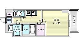 Osaka Metro御堂筋線 江坂駅 徒歩13分の賃貸マンション 9階1Kの間取り