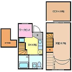 [テラスハウス] 愛知県常滑市西之口10丁目 の賃貸【/】の間取り
