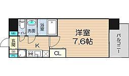 クリスタルグランツ梅田 10階1Kの間取り