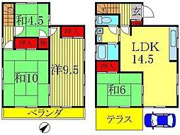 [一戸建] 千葉県柏市豊住4丁目 の賃貸【/】の間取り