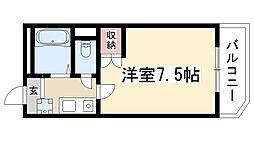 愛知県名古屋市守山区八剣1丁目の賃貸アパートの間取り