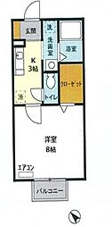 ボンヌ・シャンス八幡[1階]の間取り