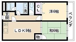 クレールミシマ[2階]の間取り